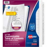 Avery Divider,X-Wide,A-Z,Wh 11166 - 1