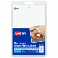 Avery Rectangle Dissolvable Labels - White
