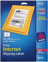 Avery Internet Shipping Labels 20 Pack - White