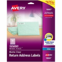 Avery Label,Ep,Ra,80up,Ij,Clr 18667 - 1