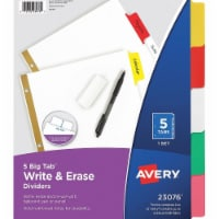 Avery Binder Divider,Write-On Tabs,Multicolor  7278223076 - 1