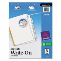 Avery Binder Divider,Write-On Tabs,White  7278223078 - 1