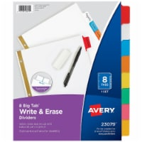 Avery Binder Divider,Write-On Tabs,Multicolor  7278223079 - 1