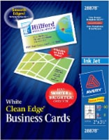 Avery Clean Edge Business Cards - 90 Pack - White