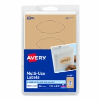 Avery Multi-Use Oval Label - Brown