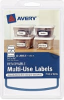 Avery Removable Multi-Use Labels - 15 Pack - White
