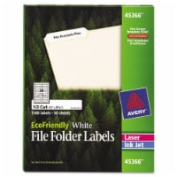Avery Label,Filing,Eco,30up,Wh 45366 - 1