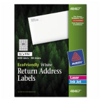 Avery Label,Rtn Add,Eco80up,Wh 48467 - 1