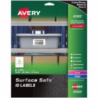 Avery Label,Ss,2x3.5 ,250/Pk,Wh 61503 - 1