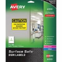 Avery Safety Sign, 10  W x 7 ,PK15  7278261515 - 1