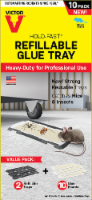 Victor® Hold-Fast Refillable Glue Tray Value Pack