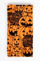 Fiber Reactive Kitchen Towel - Typography Jack O' Lantern