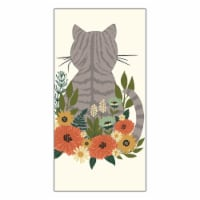 Print Dual Kitchen Towel - Autumn Wildflower Kitty