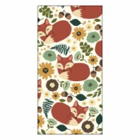 RITZ Autumn Wildflower Fox Kitchen Towel - Red/Green