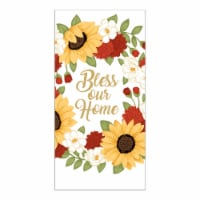 RITZ Home Sunflower Wreath Foil Kitchen Towel