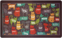 Ritz Here Kitty Kitty Print Kitchen Mat
