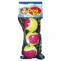 Diggers Multicolored Pet Tennis Balls Rubber Dog Toy Large 3 - Case Of: 1; Each Pack Qty: 3;