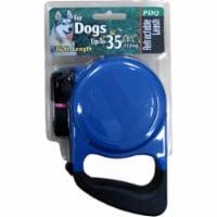 PDQ Blue / Black Cotton/Nylon Dog Retractable Leash Medium - Case Of: 1; - Count of: 1