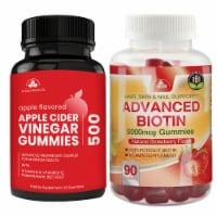 Totally Products Apple Cider Vinegar Gummies plus Biotin Gummies Combo Pack - 1 unit