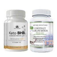 Keto BHB and Coconut Colon Cleanse Combo Pack - 1 unit