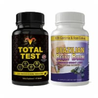 Total Test Testosterone Booster and Brazilian Belly Burn Combo Pack - 1 unit