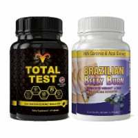 Total Test Testosterone Booster and Brazilian Belly Burn Combo Pack