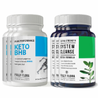 Fully Flora Keto BHB and System Cleanse Combo Pack - 1 unit