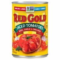 Red Gold Basil Garlic & Oregano Diced Tomatoes - 14.5 oz