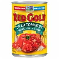 Red Gold Diced Roasted Garlic & Onions Tomatoes - 14.5 oz