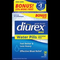 Diurex Caffiene Free Water Pills Bonus Pack - 30 capsules