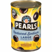 Pearls® Reduced Sodium Large Pitted California Ripe Olives - 6 oz