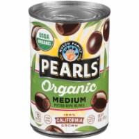 Pearls Organic Medium Pitted Ripe Olives - 6 oz
