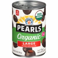 Pearls Organic Large Pitted Ripe Olives - 6 oz