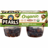 Pearls Organic Sliced Ripe Olive Cups 4 Count