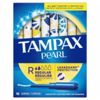 Tampax Pearl Leakguard Protection Unscented Regular Tampons