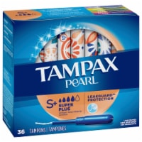 Tampax Pearl LeakGuard Protection Super Plus Absorbency Unscented Tampons
