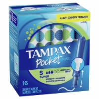 Tampax Pocket Pearl Unscented Super Compact Tampons