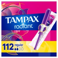 Tampax Radiant Regular Absorbency Unscented Tampons - 4 pk / 28 ct