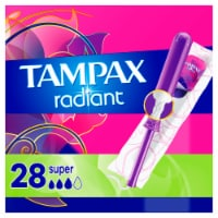 Tampax Radiant LeakGuard Super Absorbency Tampons