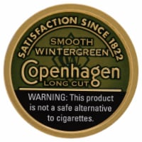 Copenhagen Smooth Wintergreen Long Cut Dipping Tobacco