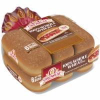 Oroweat Whole Grain Wheat Hot Dog Buns 6 Count