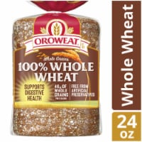 Oroweat Whole Grains 100% Whole Wheat Bread - 24 oz
