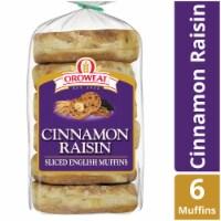 Oroweat Cinnamon Raisin Sliced English Muffins - 6 ct / 14.5 oz