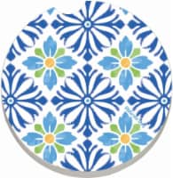 Counter Art Mediterranean Car Coaster - Blue