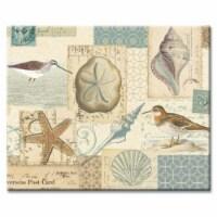 Counter Art CART22884 Shell Cottage Glass Cutting Board 12 x 15