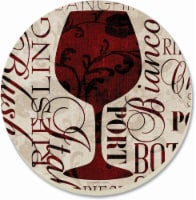 Counter Art Divine Wine Coaster - 4 Pack - Red