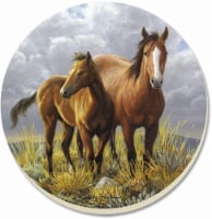 Counter Art Pair of Horses Coaster - 4 Pack - Brown