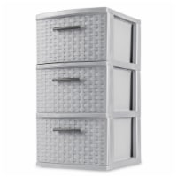 Sterilite 3 Drawer Weave Tower Drawers - Cement