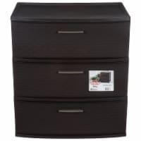 Sterilite 3 Drawer Wide Weave Storage Tower - Espresso