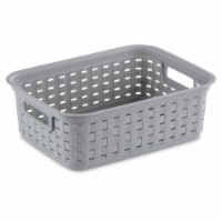 Sterilite Small Weave Basket - Cement